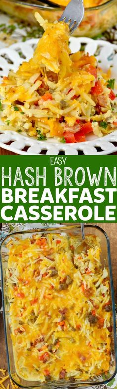This Easy Hash Brown Breakfast Casserole Recipe is super fast to throw together, but packed full of amazing flavor, making for the perfect breakfast for a crowd.