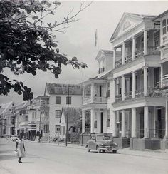 Waterfront houses in Paramaribo, 1955