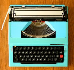 The sound of a typewriter is melodic