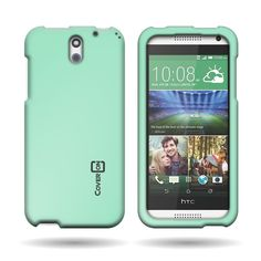 CoverON® Hard Rubberized Slim Case for HTC Desire 610 - with Cover Removal Pry Tool - Teal