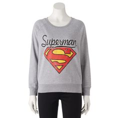Juniors' DC Comics Superman Graphic Sweatshirt, Teens, Size: Medium, Grey Other