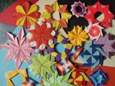 Festa de composições a partir de módulos em Origami