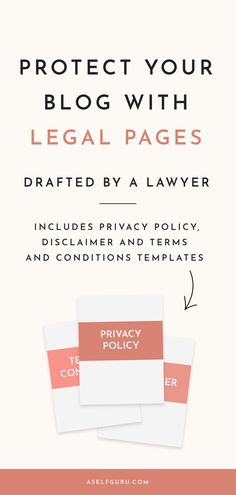 Legal Bundle (privacy policy, disclaimer and terms and conditions templates) for your website. Lawyer approved and comply with GDPR rules Business Tips, Online Business, Legal Business, Business Advisor, Creative Business, Make Money Blogging, How To Make Money, Saving Money, Humor Legal