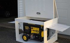 How To Store A Portable Generator (Safely) - GeneratorGrid Dual Fuel Generator, Generator Shed, Propane Generator, Emergency Generator, Portable Generator, Honda Generator, Emergency Power, Emergency Preparation, Outdoor Storage Sheds