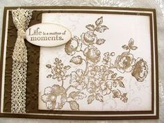stampin up elements of style sympathy card embossing vintage