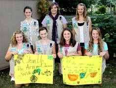 Troop 52784 had a fun idea for the Take Action project with their Breathe Journey. They worked to clean up the air in their schools' classrooms by providing each teacher with an indoor plant, and they hope that teachers will add more to keep the air clean and create a better learning atmosphere. Great job, girls!