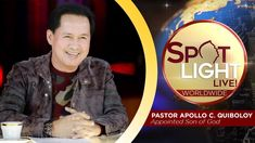 Watch another episode of Pastor Apollo C. Quiboloy's newest program, SPOTLIGHT. For your messages and queries, you can comment it down below so our Beloved P. Spiritual Enlightenment, Spirituality, Kingdom Of Heaven, New Program, T Lights, Great Leaders, Son Of God, Lessons Learned, Apollo