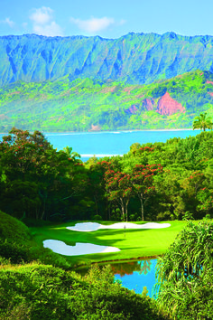 Makai Golf Course. The St. Regis Princeville Resort.