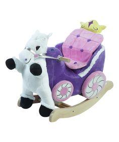 Look what I found on #zulily! Princess Carriage Rocker by Rockabye #zulilyfinds