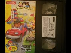 Fisher-Price Little People: Discovering Vehicles at the Garage (2002 VHS) - YouTube Cartoon Kids, Fisher Price, Little People, Day Up, Lunch Box, Garage, Baseball Cards, Vehicles, Youtube