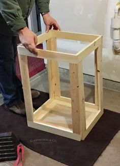 Vintage Rolling Laundry Cart is easy to make & adds charm to your laundry space. A functional & practical project with a reclaimed wood look to make laundry day easier! Laundry Cart, Laundry Room Storage, Laundry Hamper, Rustic Crafts, Wood Crafts, Woodworking Projects Diy, Wood Projects, Wood Hamper, Laundry Room Inspiration