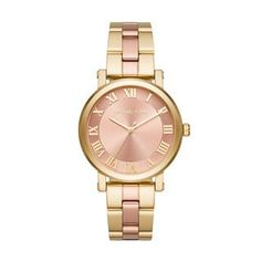 Shop for Michael Kors Women's MK3586 Norie Rose Gold Dial Two-Tone Stainless Steel Bracelet Watch. Get free delivery at Overstock.com - Your Online Watches Shop! Get 5% in rewards with Club O! - 20162679