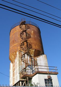 Abandoned water tower, Jersey City, New Jersey