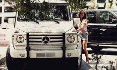Mercedes Benz G500. And I love Audrina Patridge