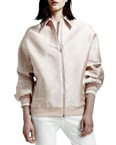 Paisley Jacquard Bomber Jacket, Rose by Stella McCartney at Bergdorf Goodman.