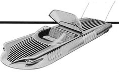 Could have been my flying car---Curtiss-Wright Air Car - Proposed Configuration Air Car, Solar Car, Flying Car, Retro Futuristic, Jet Ski, Water Crafts, Concept Cars, Cars And Motorcycles, Cool Cars