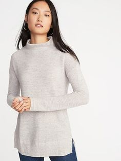 b3d57474 Textured-Stitch Turtleneck Sweater for Women