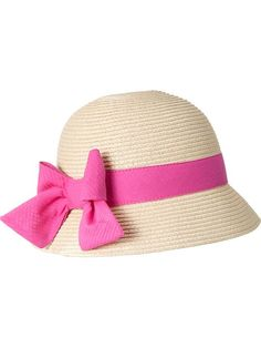 Bow-Tie Straw Cloches for Baby Product Image