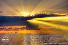 Sunset with godrays, Bo Phut, Koh Samui, Thailand