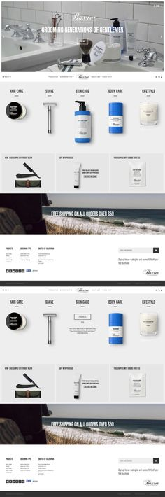 Slick design. Good for selling products. #web #design