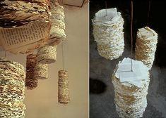 art installation Recycled Paper Sculptural Installations by Susan Benarcik Paper Installation, Artistic Installation, Art Installations, Diy Recycling, Reuse Recycle, Instalation Art, Newspaper Art, Environmental Art, Recycled Art