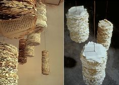 For sculptural installation artist Susan Benarcik, old newspapers and recycled papers are precious materials for her tactile sculptural pieces and evocative wall treatments. Benarcik searches for evidence of life in the most basic organic materials and then cleverly alchemizes these finds into assemblages of deep patterning and hypnotic rhythm.