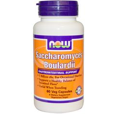 Now Foods, Saccharomyces Boulardii, Gastrointestinal Support, 60 Veggie Caps #iherb #guthealth #probiotics New to iHerb? Use coupon code NWB338