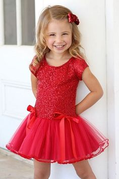 Dolls & Divas Amy Red Sequin with Tulle Skirt