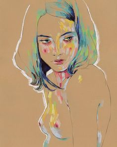 "thepeoplesprintshop: ""NOW AVAILABLE! Conrad Roset's gorgeous ""Muse and ""Muse limited editions prints! Barcelona, Pastel Art, Affordable Art, Figure Drawing, New Art, Photo Art, Fine Art Prints, Illustration Art, Dibujo"