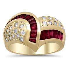 Artistry Collections 14k Yellow Gold 1/2ct TDW Diamond and Ruby Ring