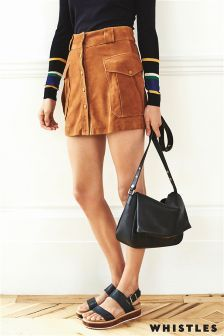 Rust Whistles Suede Skirt