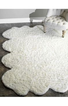 $5 Off when you share! Rugs USA Faux Sheepskin Octo Pelt Natural Rug
