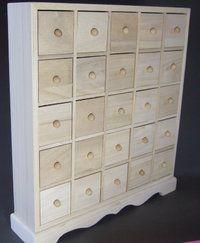 25 Drawer Plain Wooden Storage Box Also Makes A Fantastic Advent Calendar