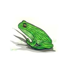 Quilled Frog Animal Card by AcnoleeQuillingCards on Etsy