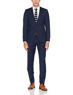Navy Blue Suit Hugo Men, Navy Blue Suit, Suit Jacket, Mens Fashion, Pants, Jackets, Black, Moda Masculina, Down Jackets