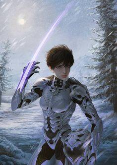 """Star Force Ginsi"" by InaWong (Ina Murwani Prasetyaningrum) on DeviantArt Arte Sci Fi, Sci Fi Art, Character Concept, Character Art, Concept Art, Rpg Star Wars, Space Opera, Arte Cyberpunk, Star Force"
