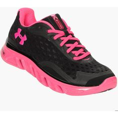 Under Armour Spine Power In Pink Women's Running Shoes ($80) ❤ liked on Polyvore
