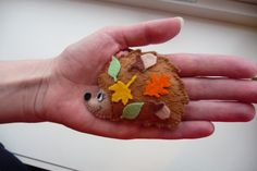 felt hedgehog