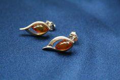 Teardrop Amber Earrings - Cognac amber stud earrings with 925 sterling silver. Luxury affordable teardrop earrings suitable for all occasions - www. Amber Earrings, Stud Earrings, Teardrop Earrings, Sterling Silver Jewelry, Charlotte, Brooch, Luxury, Collection, Stud Earring