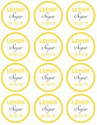 DIY Gifts Lemon Sugar Scrub in a Jar with FREE Printable Labels