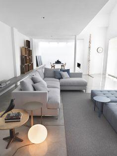 Sectional fabric #sofa LOFT by Giulio Marelli Italia | #design Studio Marelli