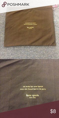 """Kate Spade New York Dustbag KSNY dust bag. Brown and pink. Roughly 17.5""""x19"""". kate spade Other"""