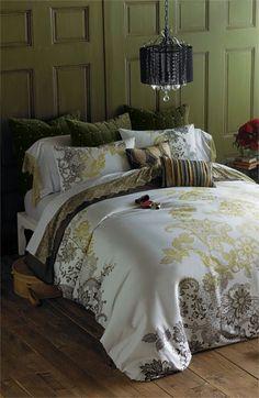 Blissliving Home 'Evita' 300 Thread Count Duvet Set (Online Only)   Nordstrom olive, brown, & gold.....