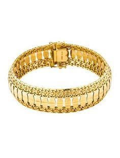 #Valentines #AdoreWe #The RealReal - #Bracelet 18K Fancy Link Bracelet - AdoreWe.com