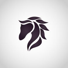 Horse logo vector art illustration
