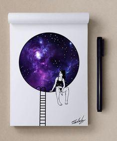Boa noite - Estrelas temáticos Ilustrações de Muhammed Salah | Arte e Design