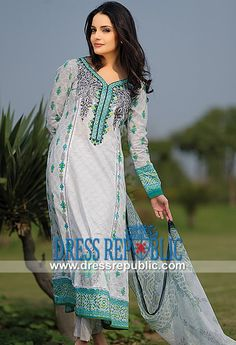 Armeena Rana Khan Designer Lawn 2014 in United States   by www.dressrepublic.com
