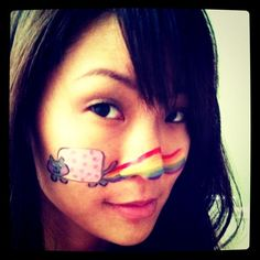 Nyan Cat Face Painting
