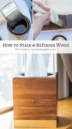Learn how to stain and finish wood. It's actually pretty easy (and really rewarding!).