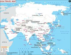 Asia, the largest continent of the world, is also known for its tourist destinations. Find out Asia travel map, major attractions,major cities and more. Travel Maps, Travel Packing, Asia Travel, Travel Usa, Amazing Destinations, Travel Destinations, Travel Information, Travel Essentials, Adventure Travel